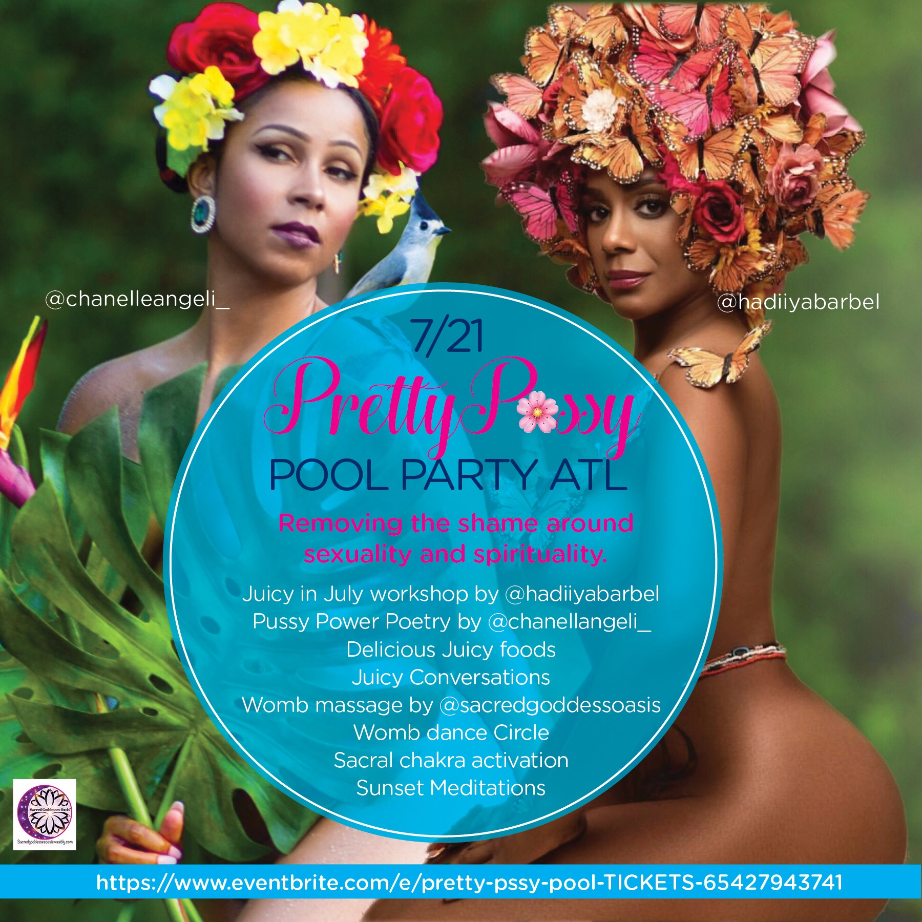 Join me in ATLANTA, GA for the Pretty P🌸ssy Pool Party!